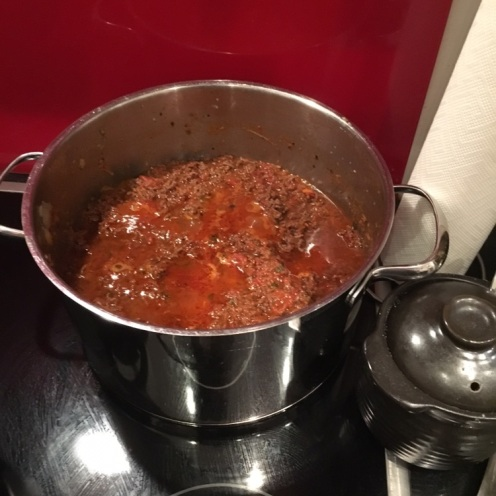 Bolognese in Vorbereitung