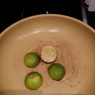 Limetten angebraten
