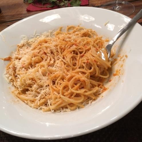 Spaghetti mit kalten Tomatensauce