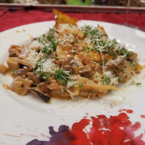 Lasagne mit Pilzen 4