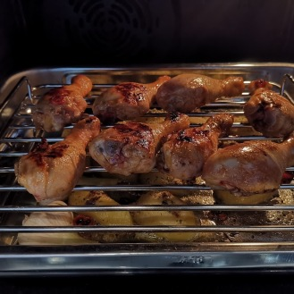 Hühnerkeulen mit Fächerkartoffeln 4