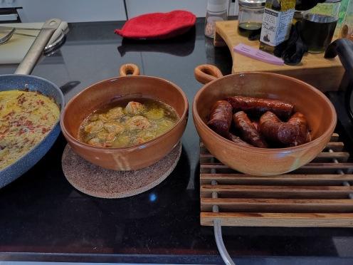 Chorizo mit Bohnensauce