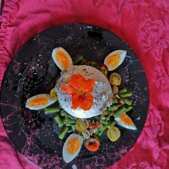 Burrata mit Fisolen-Tomatensalat 7