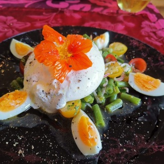Burrata mit Fisolen-Tomatensalat 8