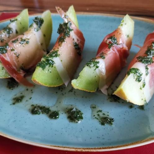 Melone mit Parmaschinken 1