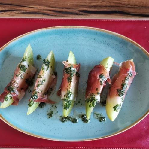 Melone mit Parmaschinken 2