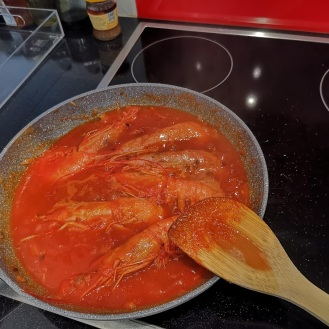 Garnelen in Buzara Sauce 4