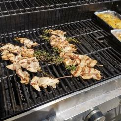 Hühnerfilet auf Rosmarinspieß gegrillt 10