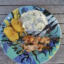 Hühnerfilet auf Rosmarinspieß gegrillt 11