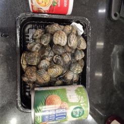 Venusmuscheln in Currysauce 1