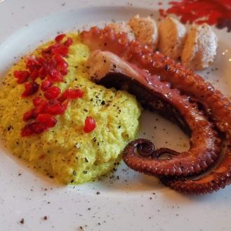 Gegrillter Oktopus mit Karfiolpüree 6