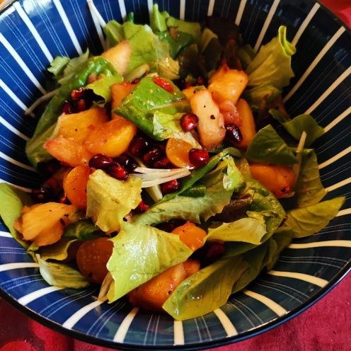 Garnelen in Kokospanade mit Kokosjoghurtsauce und buntem Salat 4