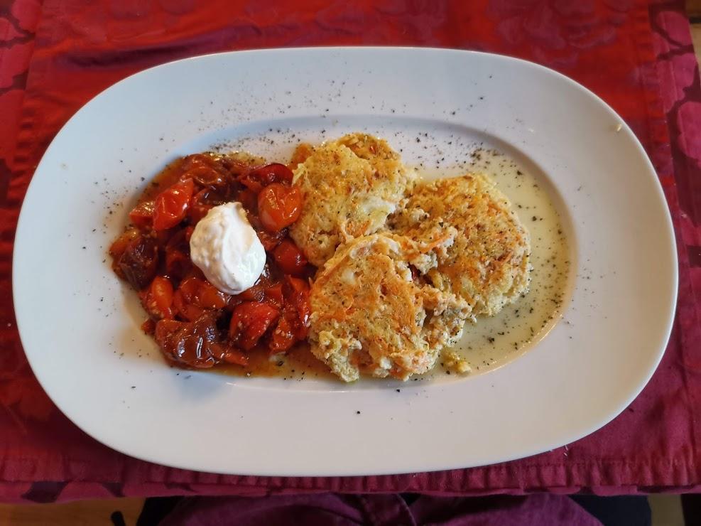 Gemüseplätzchen mit getrockneten Tomaten 2