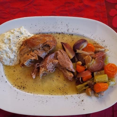 Lammschulter mit Gemüse und Tsatsiki 2