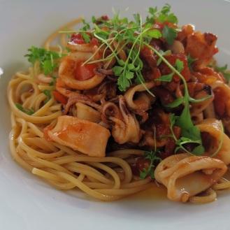 Calamari mit Linsenspaghetti auf koreanische Art 1