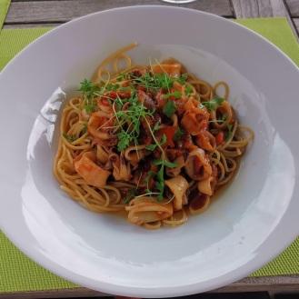 Calamari mit Linsenspaghetti auf koreanische Art 2
