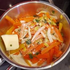 Entenkeulen mit Feigen auf Gemüsepüree 5