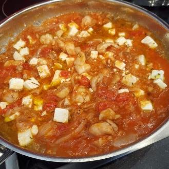 Spaghetti mit Kaninchen und Auberginenkaviar 3