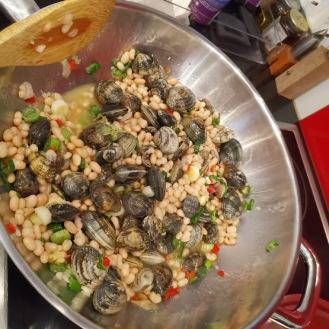 Fagioli con le vongole - Venusmuscheln mit Bohnen 4