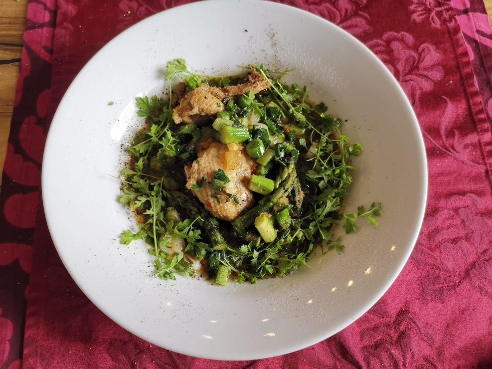 Ingwerhühnchen mit Spargel vietnamesischer Style 2