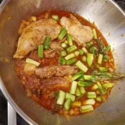 Ingwerhühnchen mit Spargel vietnamesischer Style 3